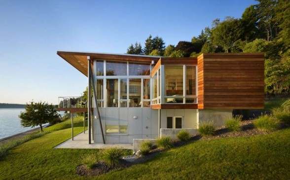 Wooden Beach House Design